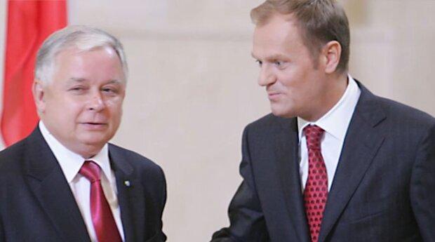 Lech Kaczyński i Donald Tusk/YouTube @Telewizja Republika Kalendarz Historyczny