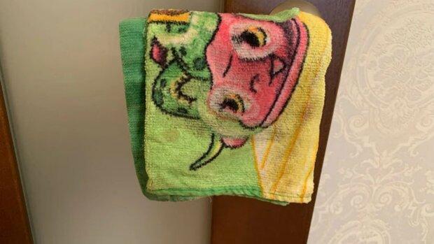 ręcznik na klamce, screen YT