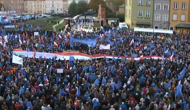 Manifestacja w Warszawie/Youtube @Platforma Obywatelska