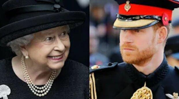 Królowa Elżbieta II, książę Harry/YouTube @Wiadomości