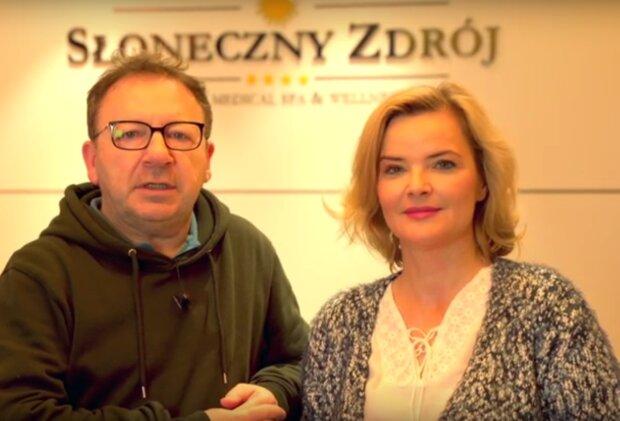 Monika i Zbigniew Zamachowscy / YouTube:  Hotel Słoneczny Zdrój Medical Spa & Wellness