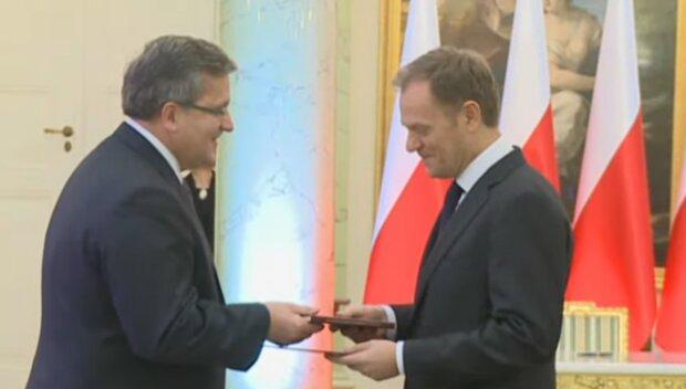 Bronisłw Komorowski i Donald Tusk/YouTube @Prezydent.pl