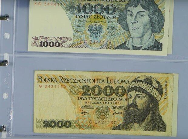 banknoty z PRL / YouTube: Hallack